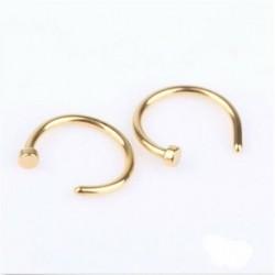 Arany - Női divat strasszos kristály orr gyűrű csont csap testékszer ékszer ajándék