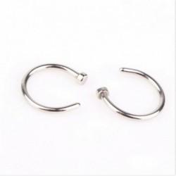 Ezüst - Női divat strasszos kristály orr gyűrű csont csap testékszer ékszer ajándék