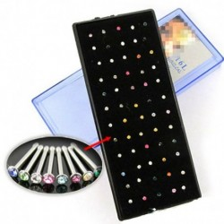 60db többszínű - Női divat strasszos kristály orr gyűrű csont csap testékszer ékszer ajándék