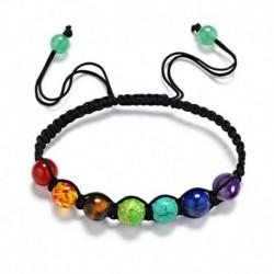Nincs szín - 7 csakra gyógyító egyensúly gyöngy karkötő jóga életenergia karkötő ékszer ajándék