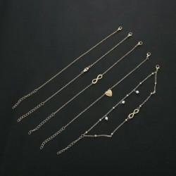 * 20 Arany - Boho bokaváz karkötő Strand teknős gyöngy tengeri csillag kristály gyöngy lánc karkötő