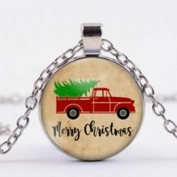 Karácsonyi autó - Vintage Punk Butterfly Dragon Cabochon üveg bronz lánc bagoly medál nyaklánc