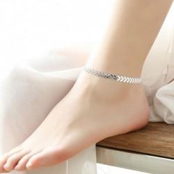Ezüst - Boho nők mezítlábas nyíl boka lánc boka karkötő láb ékszerek szandál strand