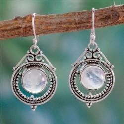 Nincs szín - Női divatékszer fülbevalók fül ezüst 925 retro ajándékok Holdkő kézzel készített