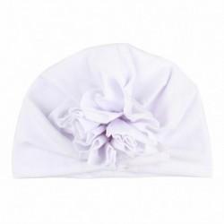 * 6 Fehér - Baba fejpántok Turbán kalap íj hajszalagok Gyerekek csecsemő sapka haj kiegészítők