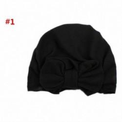 * 5 Fekete - Baba fejpántok Turbán kalap íj hajszalagok Gyerekek csecsemő sapka haj kiegészítők