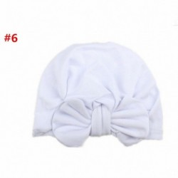 * 5 Fehér - Baba fejpántok Turbán kalap íj hajszalagok Gyerekek csecsemő sapka haj kiegészítők