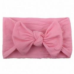 * 14 középső rózsaszín - Baby Rabbit fejpánt pamut elasztikus bowknot hajszalag lányok íjcsomós újszülött íj