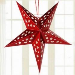 Piros - Forró karácsony húr függő csillag karácsonyi party dekoráció karácsonyfa dísz