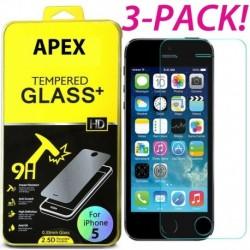 IPhone 7 (3 csomag) - 3db Premium Real Screen Protector edzett üveg film iPhone 5 6s 7 8 Plus készülékhez