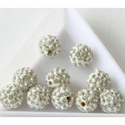 20db ClearCrystal strassz ... - 100db Rondelle Spacer ezüst gyöngy cseh kristály strassz kerek 8mm nagykereskedelem
