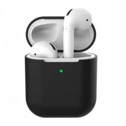 Fekete (kulcstartó nélkül) - AirPods szilikon tok borító védőbőr Apple Airpod töltéshez   kulcstartó
