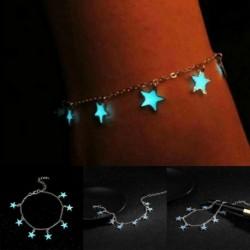 * 6 Ezüst világító csillagok bokája - Divat boka karkötő nők arannyal ezüstözött boka láb ékszer lánc strand