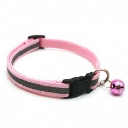 Rózsaszín - 1db fényvisszaverő macska nyakörv harang nylon aranyos macskafej biztonsági csattal pet nyakörv