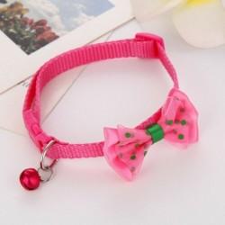 * 1 rózsaszínű - Csokornyakkendő állítható cica nyakkendő gallér Bowknot Dot Bell Cat kisállat kiskutya