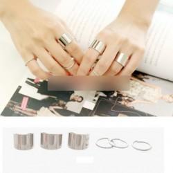 6db Ezüst színű nyitott gyűrű ékszer ajándék
