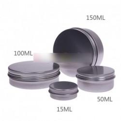 10db 15ML kerek alumínium szájfény krém tároló