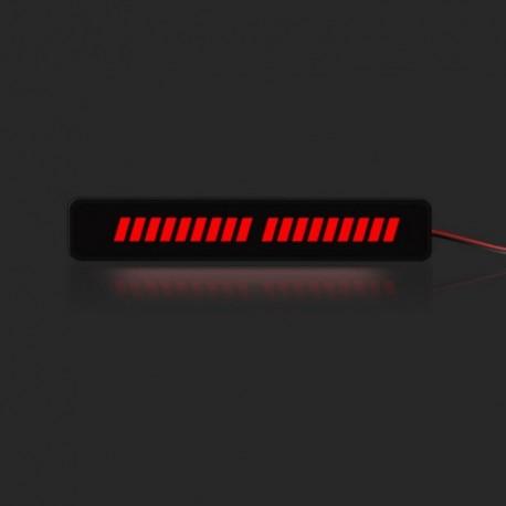 1 - 12V 3D autó első rács 36LED dekoratív könnyű autó fényjelző nappali / éjszakai futólámpa külső kiegészítők