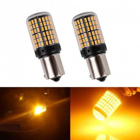 Feladó: - 12V-24V BAU15S 7507 irányjelző lámpa PY21W 5009 Canbus hiba nélkül LED izzó sárga villogó 1156 bau15s 114SMD