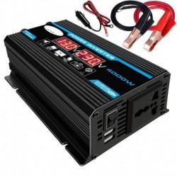 fekete 12v-220v - 4000W 12V - 220V / 110V LED autóátalakító átalakító töltőadapter kettős USB feszültségű