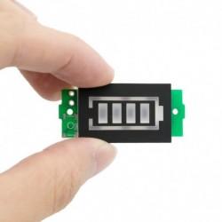 1S 3,7 V kék - 20db 1S 2S 3S 4S egyetlen 3,7 V-os lítium akkumulátor kapacitásjelző modul 4,2 V-os kék kijelzős