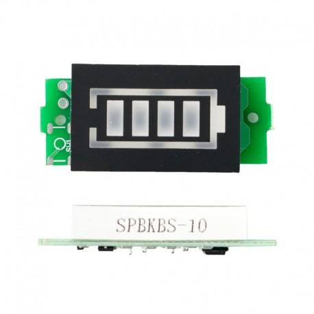 3S12.6V kék - 20db 1S 2S 3S 4S egyetlen 3,7 V-os lítium akkumulátor kapacitásjelző modul 4,2 V-os kék kijelzős elektromos