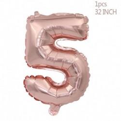 5. szám - Rózsa arany konfetti ballonok fólia pezsgő csillag léggömb esküvői latex ballon globos BabyShower