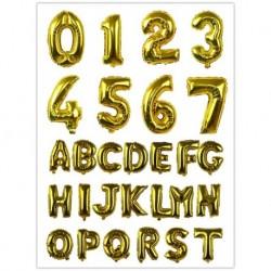 Arany - 1 db arany és ezüst / rózsaszín / kék betűs szám fólia léggömbök 16 hüvelykes ábécé felfújható