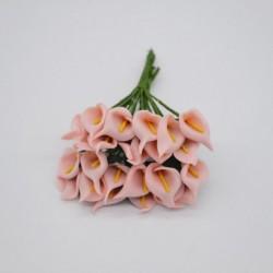 őszibarack - 36db Mini PE Calla Lily művirág csokor többszínű rózsa esküvői party virág dekoráció scrapbooking hamis