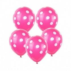 B030-3 - 10db / tétel 12 hüvelykes többszínű pöttyös léggömbök felfújható latex lufi esküvői születésnapi party