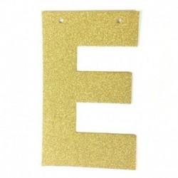 D - 1db / tétel 13 cm-es személyre szabott barkács arany csillogó papír levél szalagcímer függő zászlók esküvői