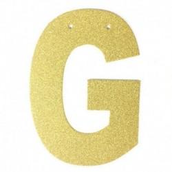 F - 1db / tétel 13 cm-es személyre szabott barkács arany csillogó papír levél szalagcímer függő zászlók esküvői