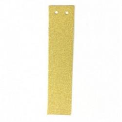 H - 1db / tétel 13 cm-es személyre szabott barkács arany csillogó papír levél szalagcímer függő zászlók esküvői