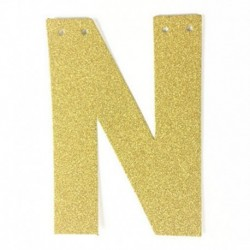 M - 1db / tétel 13 cm-es személyre szabott barkács arany csillogó papír levél szalagcímer függő zászlók esküvői