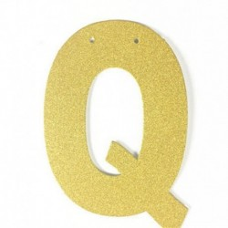 P - 1db / tétel 13 cm-es személyre szabott barkács arany csillogó papír levél szalagcímer függő zászlók esküvői