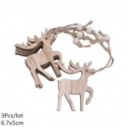 Stílus8 - 3db szüreti fa medálok díszek Mikulás barkácsolás fa kézműves termékek karácsonyi díszek karácsonyi party