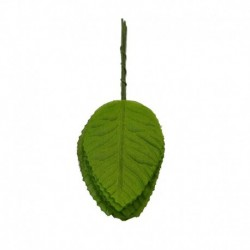 L07 Zöld - 40db nejlon műanyag levél zöld levelek művirág esküvői dekorációhoz DIY koszorú ajándék kézműves hamis
