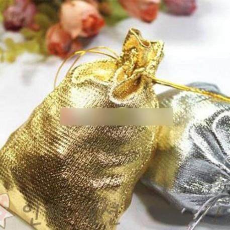 1db 7x9cm Arany Ezüst metál Ékszer Ajándék tasak