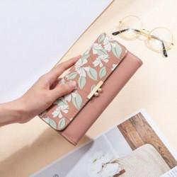 Női hosszú nyomtatású pénztárca háromszoros, többfunkciós csatkártya-pénztárca