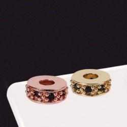 1db divat kreatív cirkon karkötő gyöngy távtartó DIY kiegészítők ékszerek készítéséhez