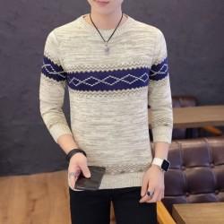 Férfi téli pulóver pulóver hosszú ujjú kerek nyakú kötött pulóver őszi meleg pulóver