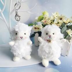 Lány aranyos kasmír kulcstartó medál nők baba plüss női pár juh táska kiegészítők