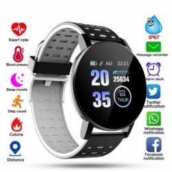 Bluetooth Smart Watch Férfi Vérnyomás Smartwatch Női karóra Sportkövető WhatsApp Android IOS intelligens órához