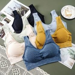 Női szexi csipke lélegző melltartó zökkenőmentes felsők utcai ruházat intim fehérnemű párna mellény felsőruházat