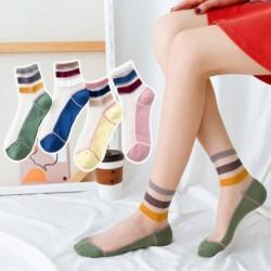 Női színmegfelelő háromrúd közepes cső pamut zokni Laza közepes csónak zokni