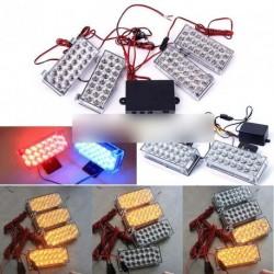 12V 2 X 22 LED Sürgősségi villogó Strob lámpa