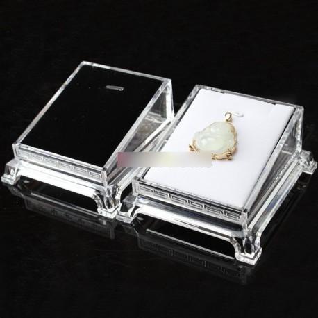 Átlátszó akril ékszer karkötő óra tartó tálca