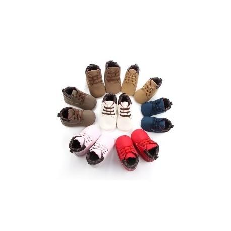 6e3d4173a0 1 pár Baba Soft Cipők Lábbeli Újszülött Baba Fiúk Alkalmi Flock Első  járáshoz