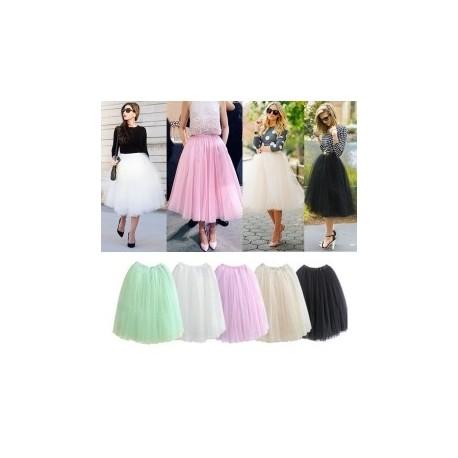 a8cff871ca 1 db Női Nyári Midi Szoknyák Tutu Maxi Plüss tüllös szoknya hercegnős  alkalmi ruha több színben