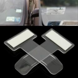 2db Autó számla Jegymozaik Járműparkjegyengedélytartó Tartókarral ablakvédő ablak tartó